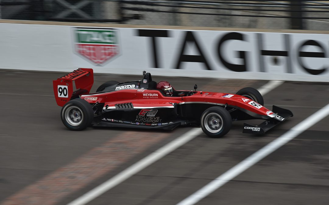 THOMPSON SALVAGES POINTS WITH VALIANT DRIVE IN USF2000 AT INDY