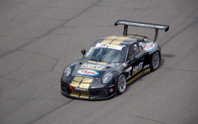 Thompson Takes Double Podiums at Porsche GT3 Cup Debut